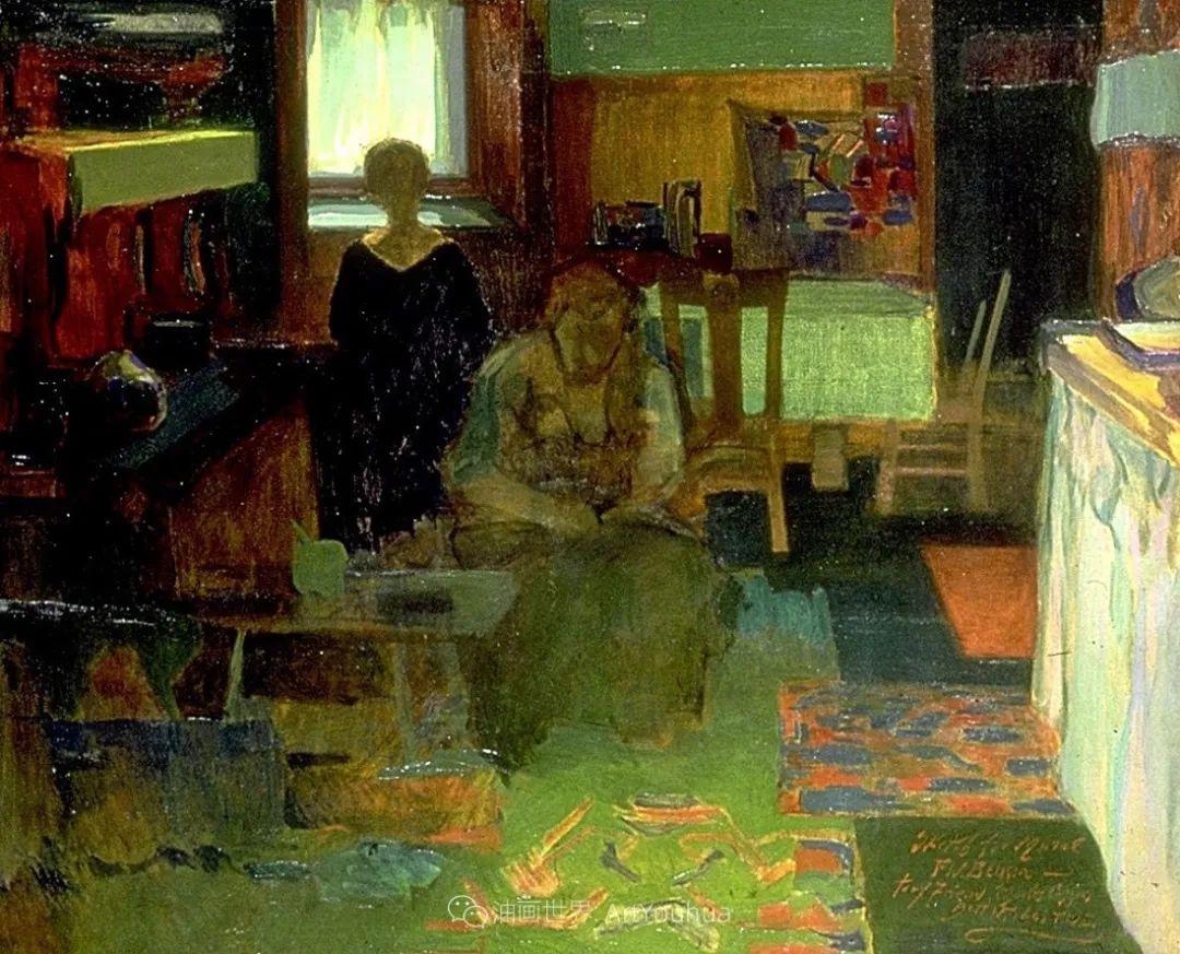 专注于捕捉光线,美国画家弗兰克·韦斯顿·本森插图139