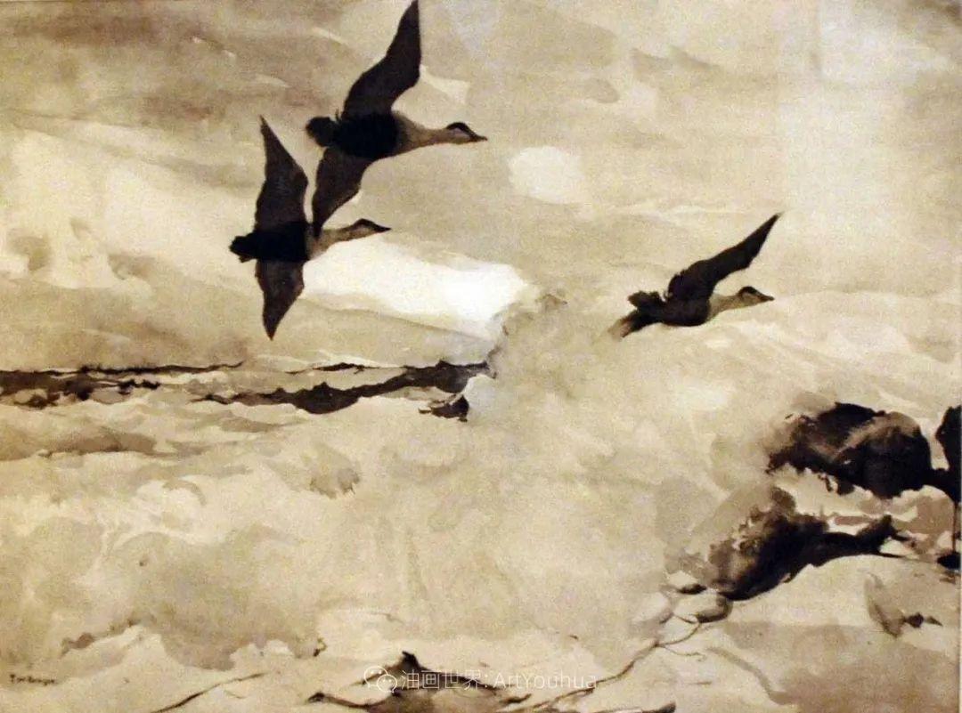 专注于捕捉光线,美国画家弗兰克·韦斯顿·本森插图141