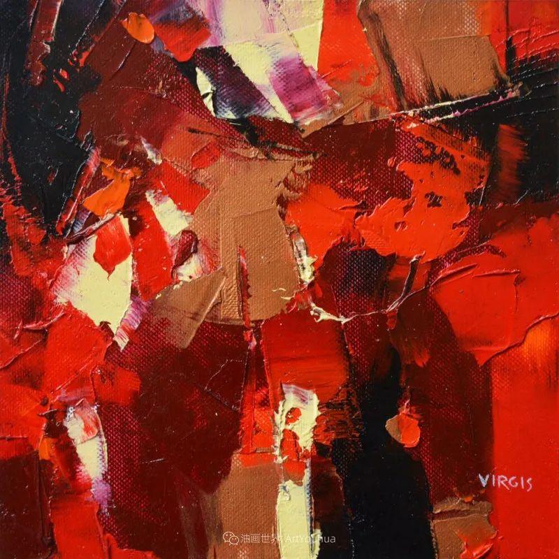 抽象绘画,立陶宛画家维吉斯画选插图17