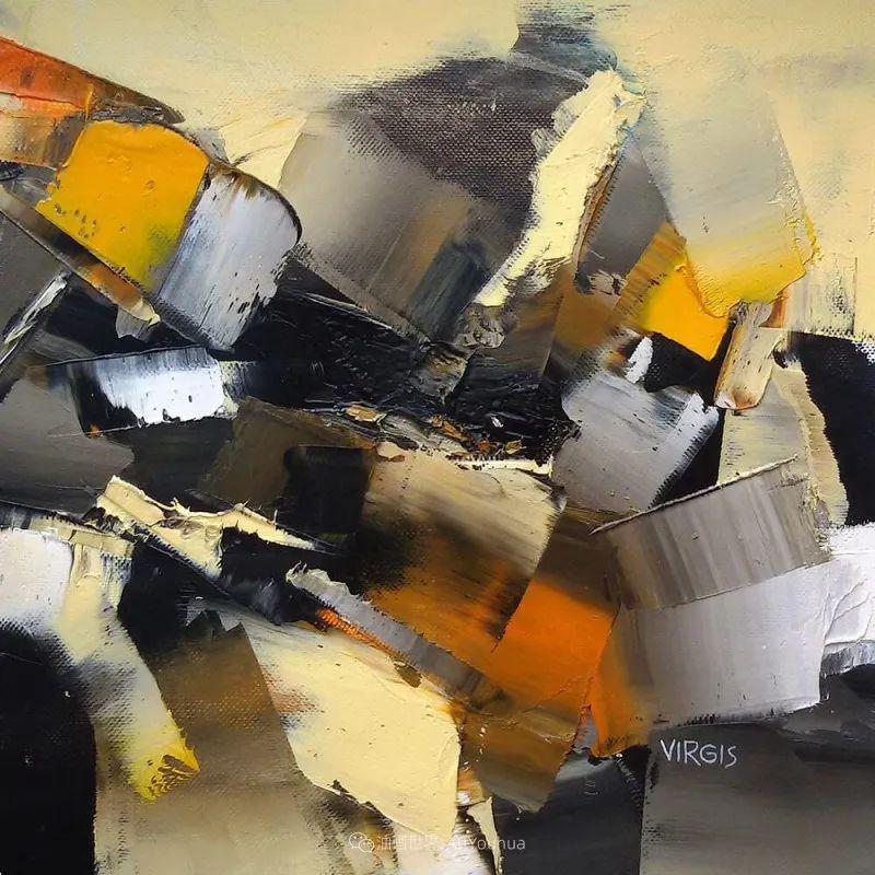 抽象绘画,立陶宛画家维吉斯画选插图31
