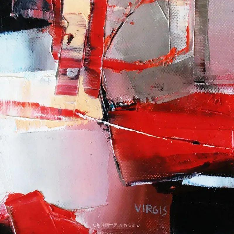 抽象绘画,立陶宛画家维吉斯画选插图33