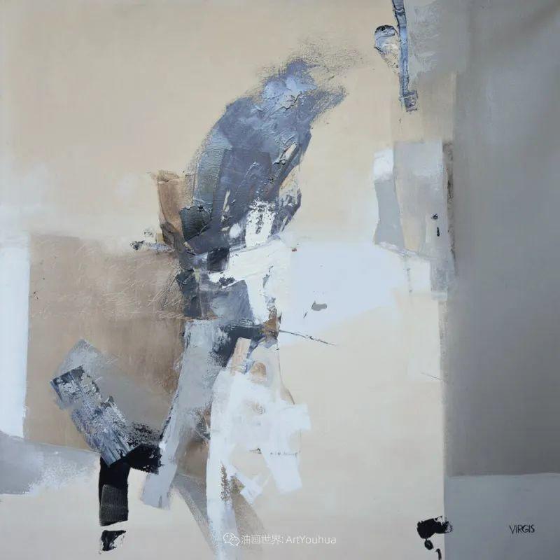 抽象绘画,立陶宛画家维吉斯画选插图41