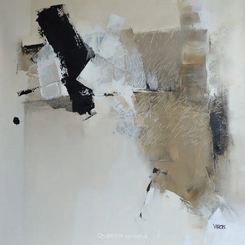 抽象绘画,立陶宛画家维吉斯画选插图43