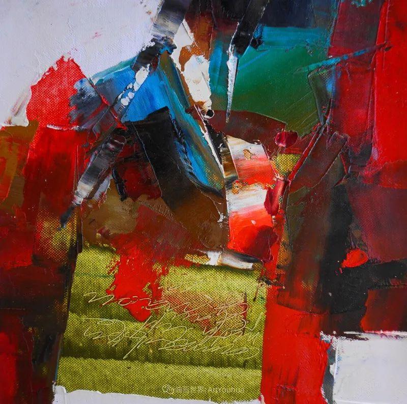 抽象绘画,立陶宛画家维吉斯画选插图63