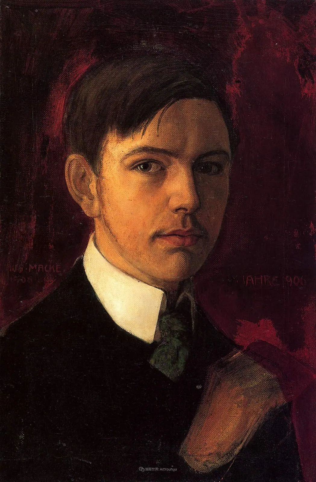 画面色彩的力量,德国表现主义画家奥古斯特·马克插图3