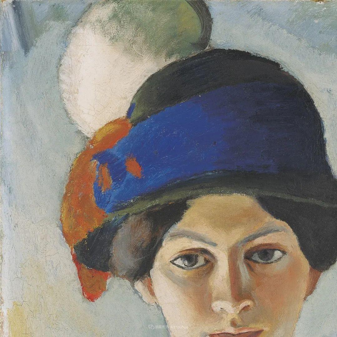 画面色彩的力量,德国表现主义画家奥古斯特·马克插图7