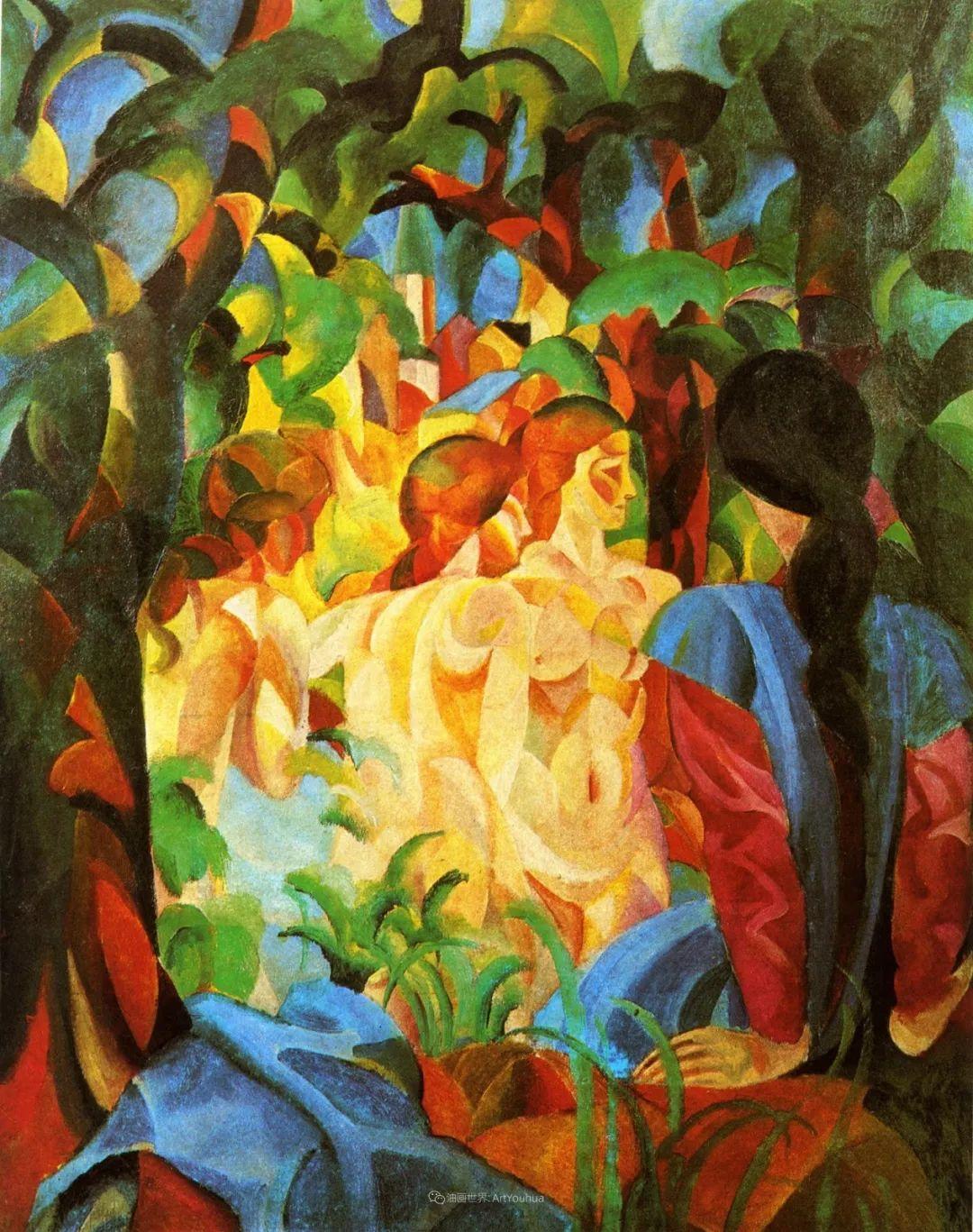 画面色彩的力量,德国表现主义画家奥古斯特·马克插图11