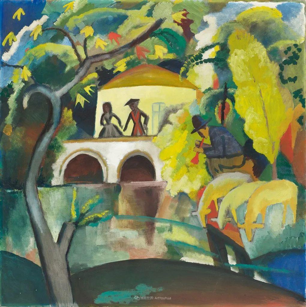 画面色彩的力量,德国表现主义画家奥古斯特·马克插图15