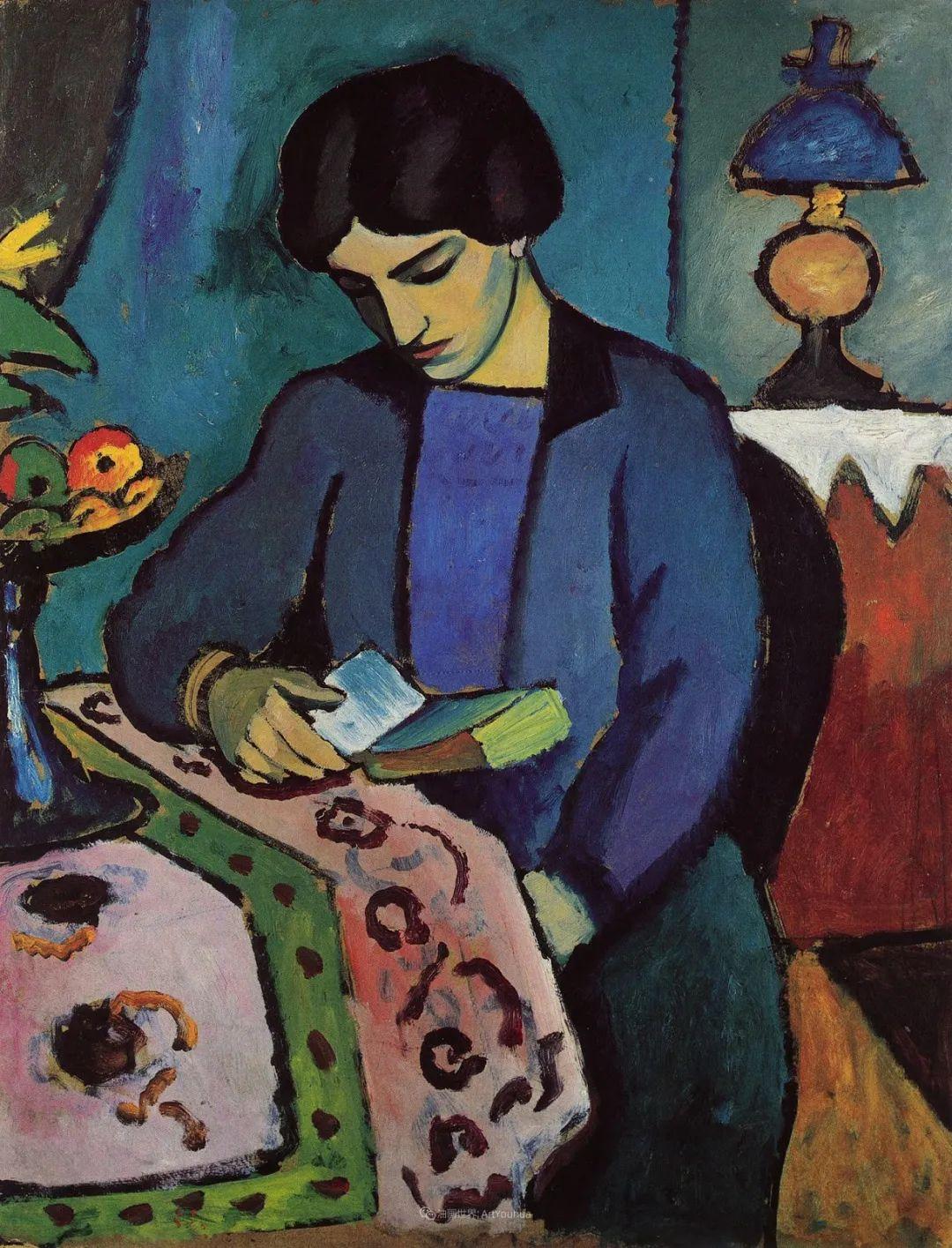 画面色彩的力量,德国表现主义画家奥古斯特·马克插图23