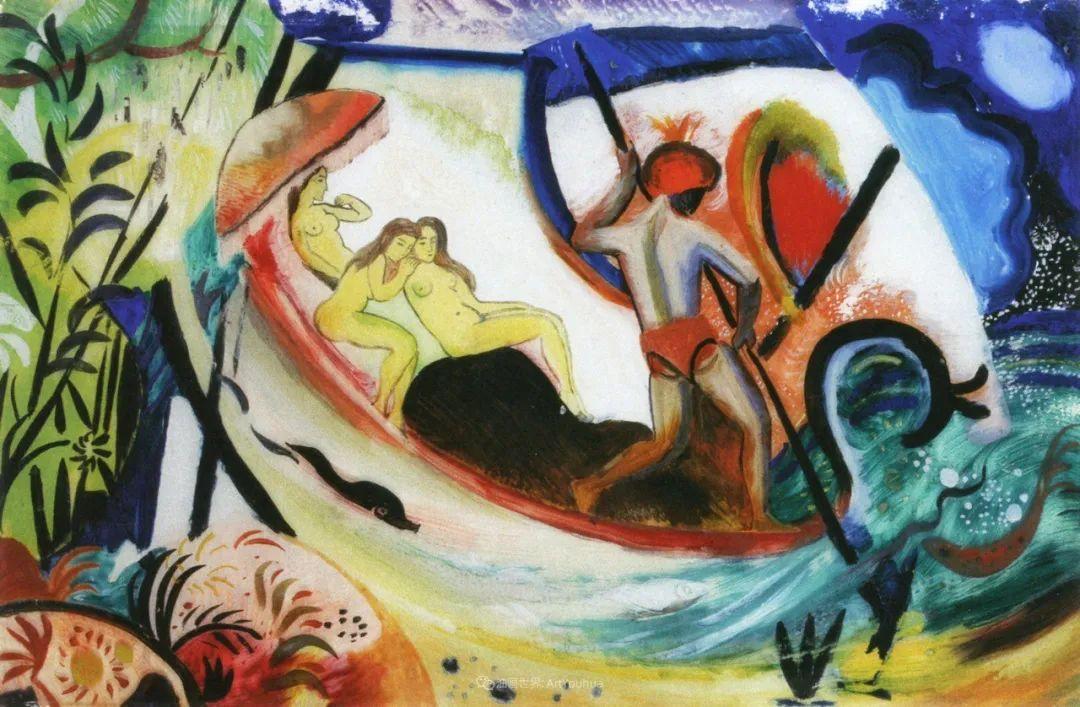 画面色彩的力量,德国表现主义画家奥古斯特·马克插图25
