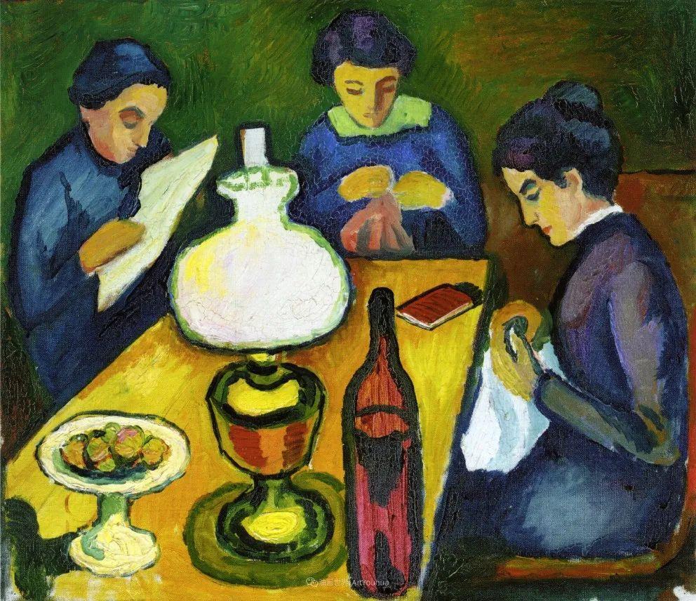 画面色彩的力量,德国表现主义画家奥古斯特·马克插图27
