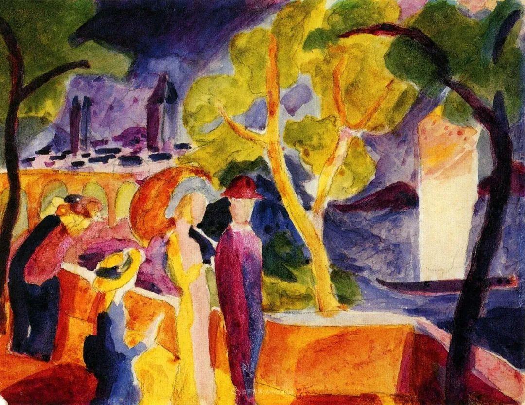 画面色彩的力量,德国表现主义画家奥古斯特·马克插图29