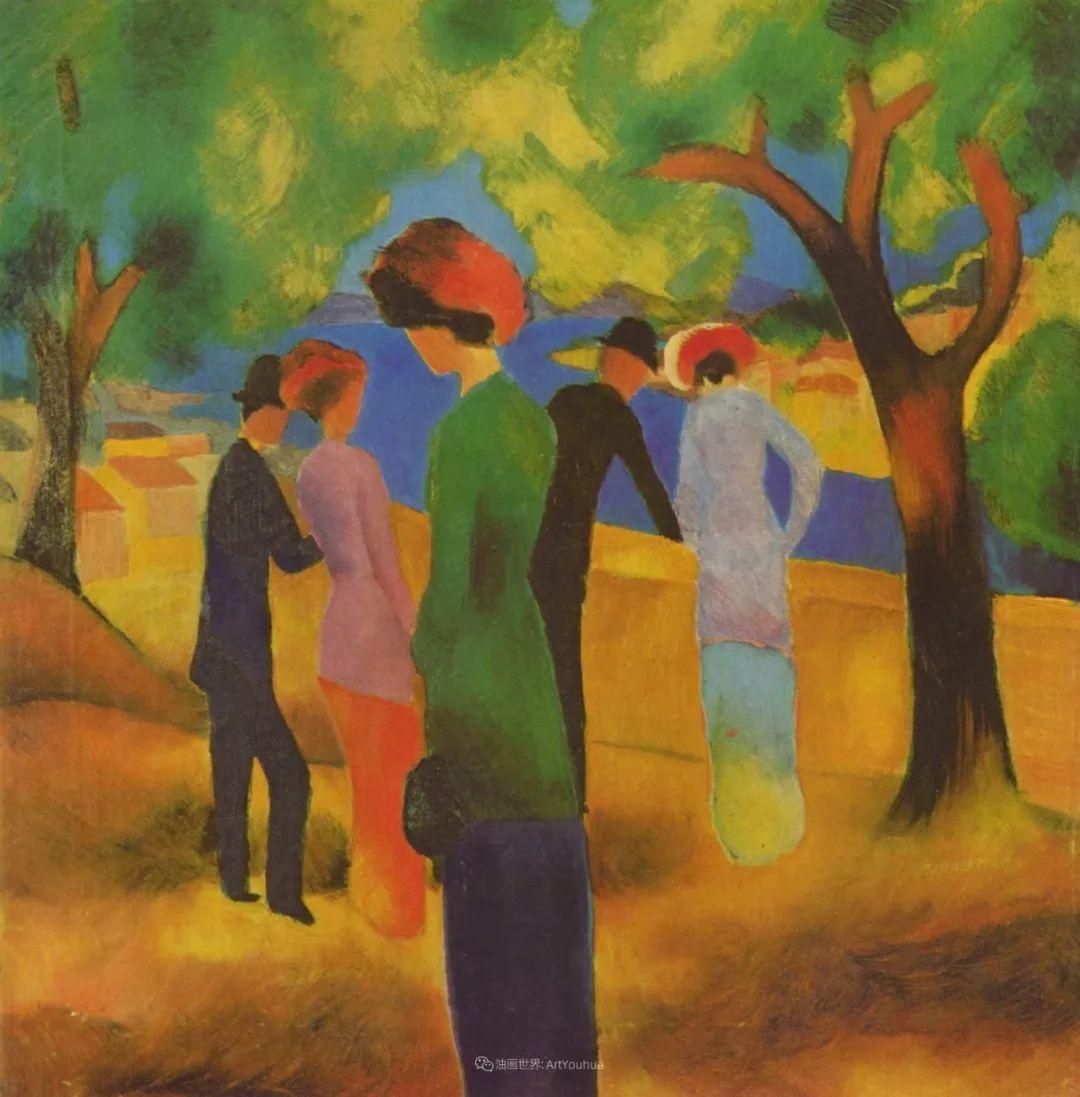 画面色彩的力量,德国表现主义画家奥古斯特·马克插图31