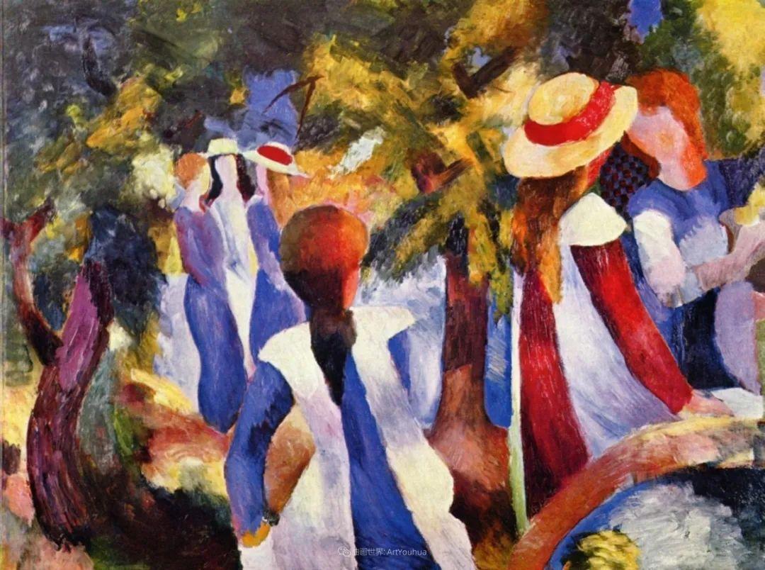 画面色彩的力量,德国表现主义画家奥古斯特·马克插图35