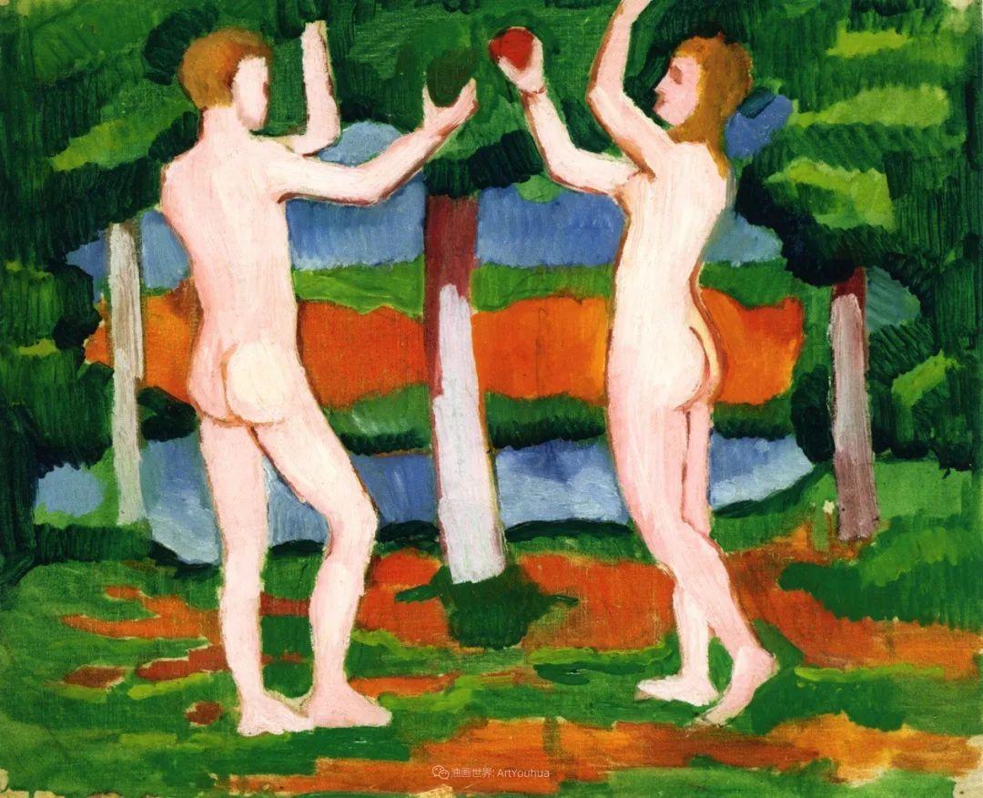 画面色彩的力量,德国表现主义画家奥古斯特·马克插图37