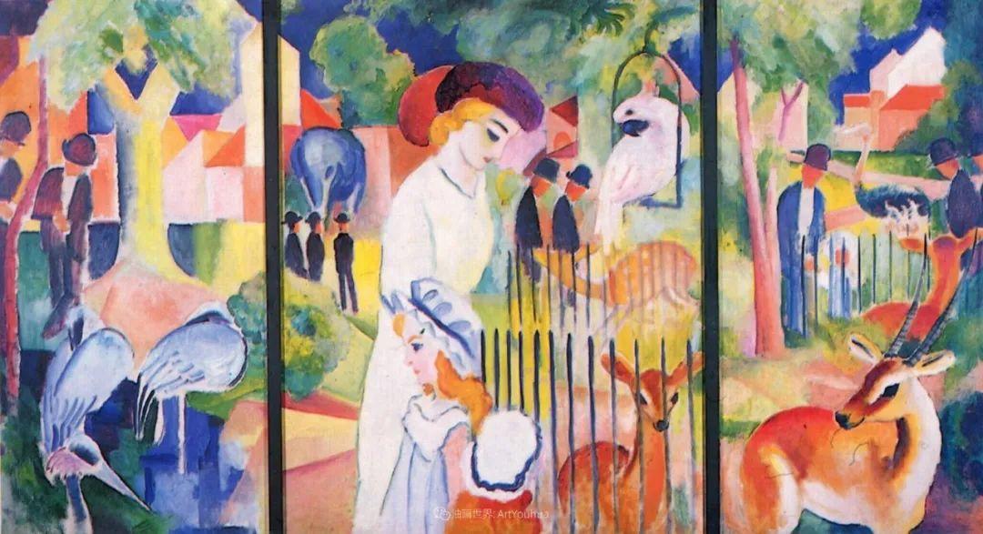 画面色彩的力量,德国表现主义画家奥古斯特·马克插图39
