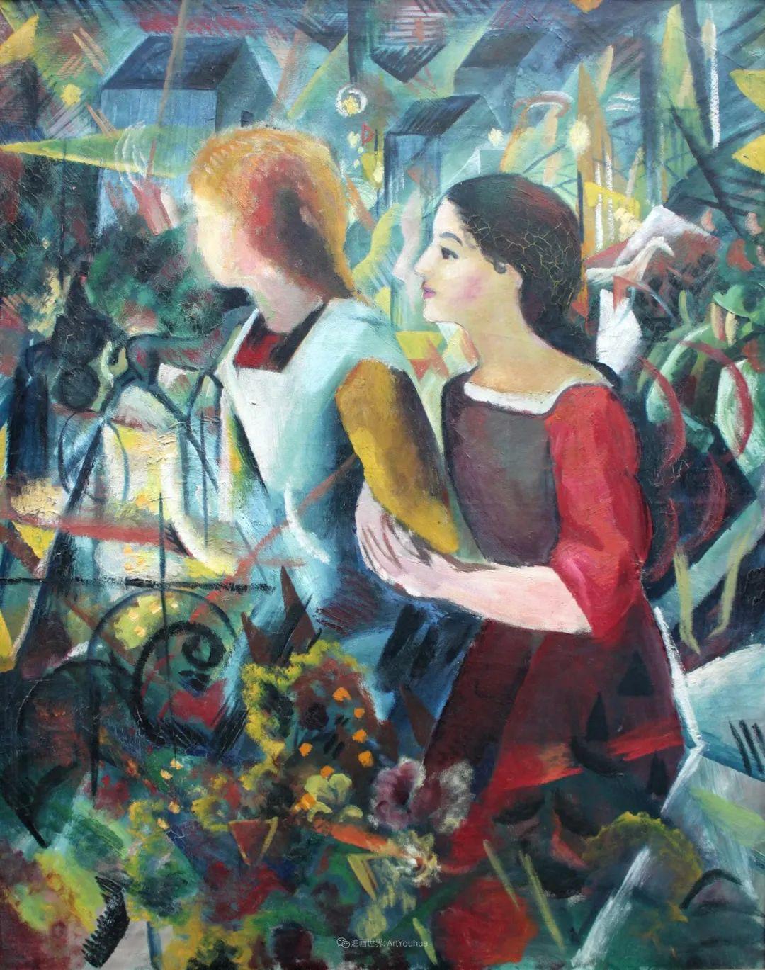 画面色彩的力量,德国表现主义画家奥古斯特·马克插图41