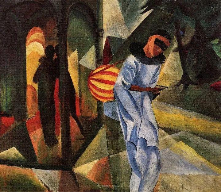 画面色彩的力量,德国表现主义画家奥古斯特·马克插图43
