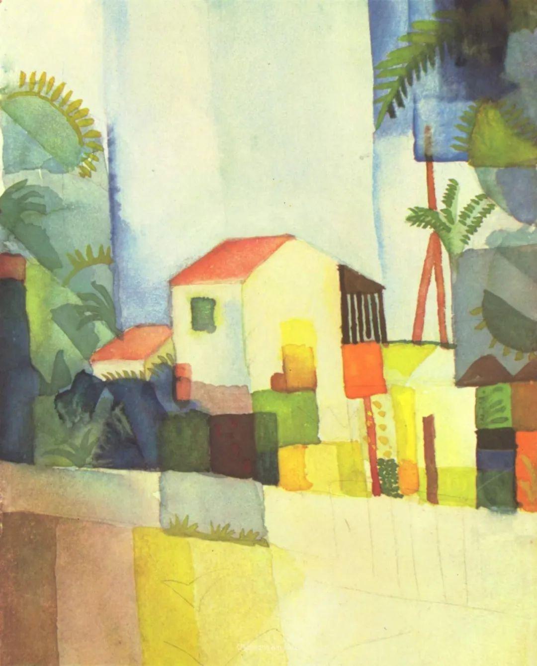 画面色彩的力量,德国表现主义画家奥古斯特·马克插图45