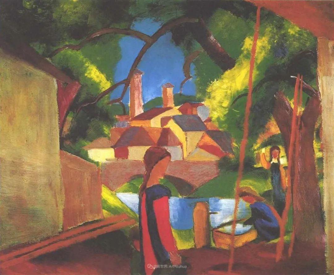 画面色彩的力量,德国表现主义画家奥古斯特·马克插图49