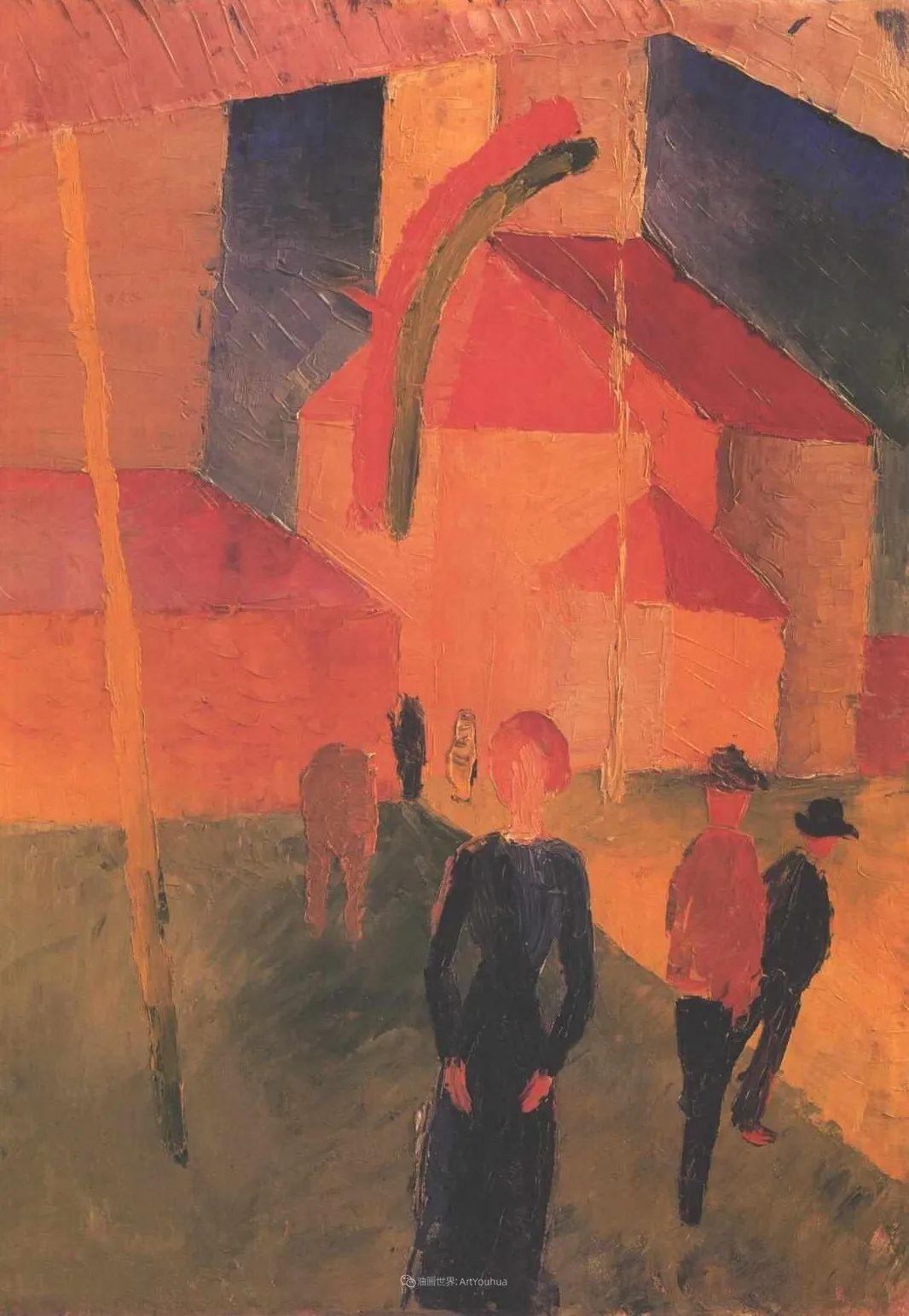 画面色彩的力量,德国表现主义画家奥古斯特·马克插图51