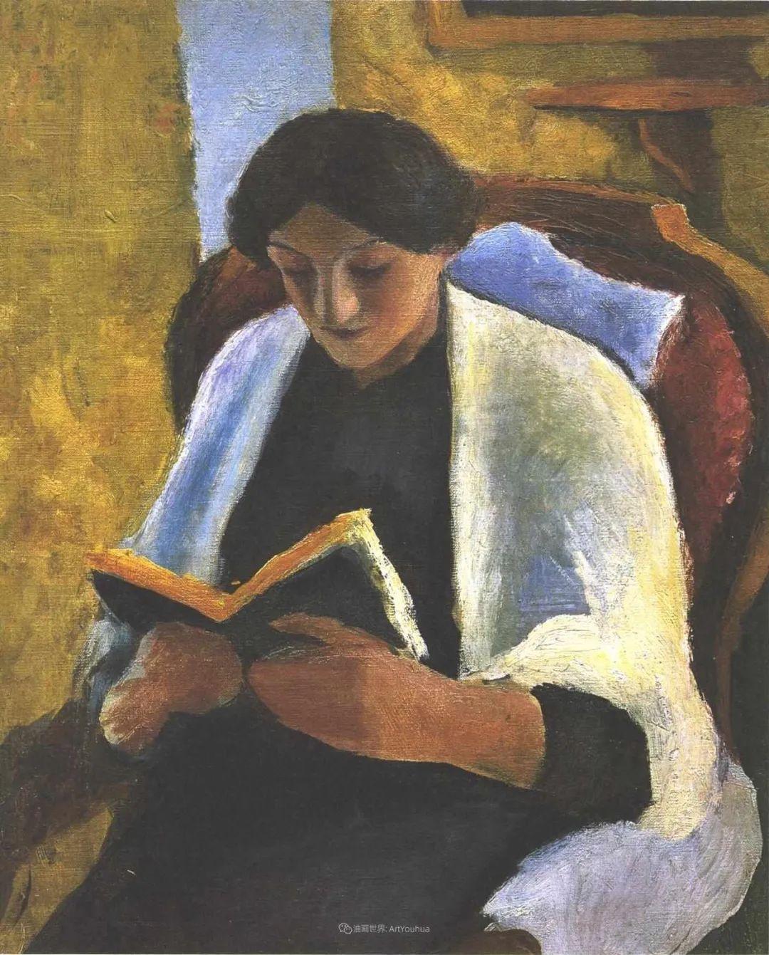 画面色彩的力量,德国表现主义画家奥古斯特·马克插图53