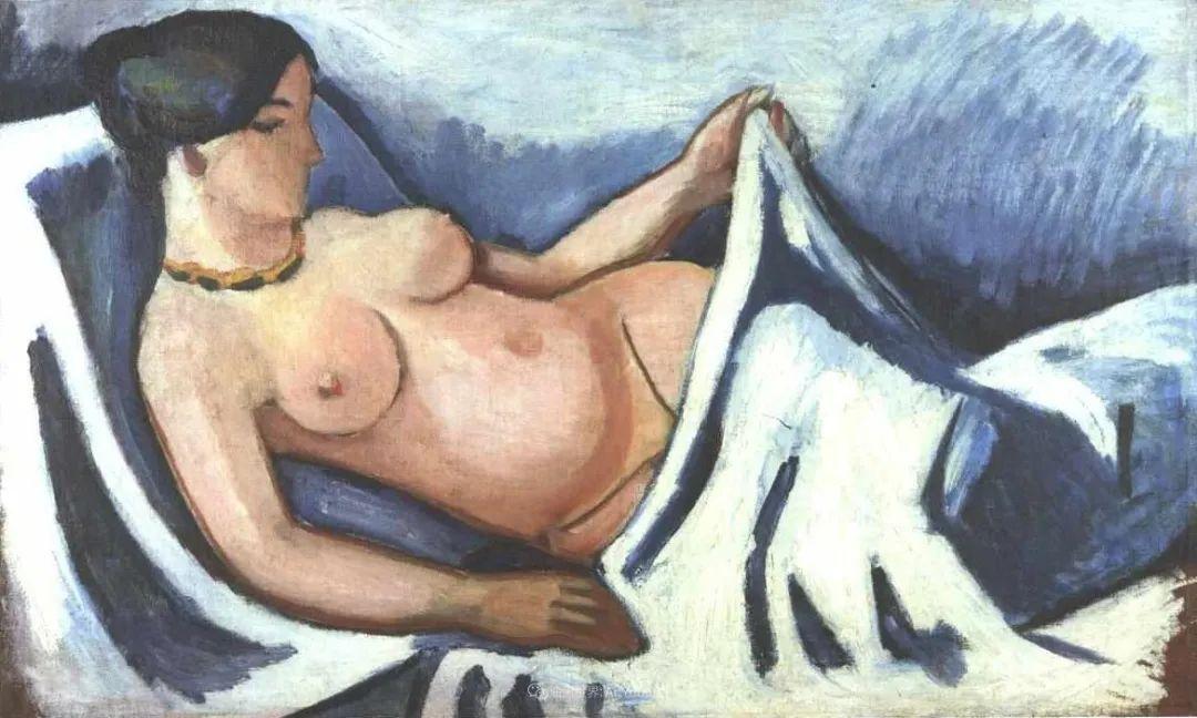 画面色彩的力量,德国表现主义画家奥古斯特·马克插图55