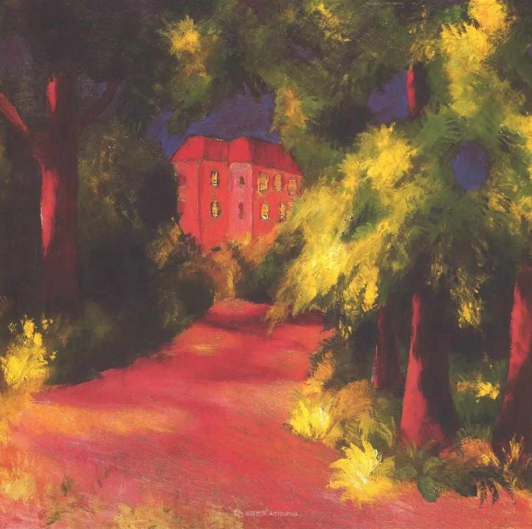 画面色彩的力量,德国表现主义画家奥古斯特·马克插图57