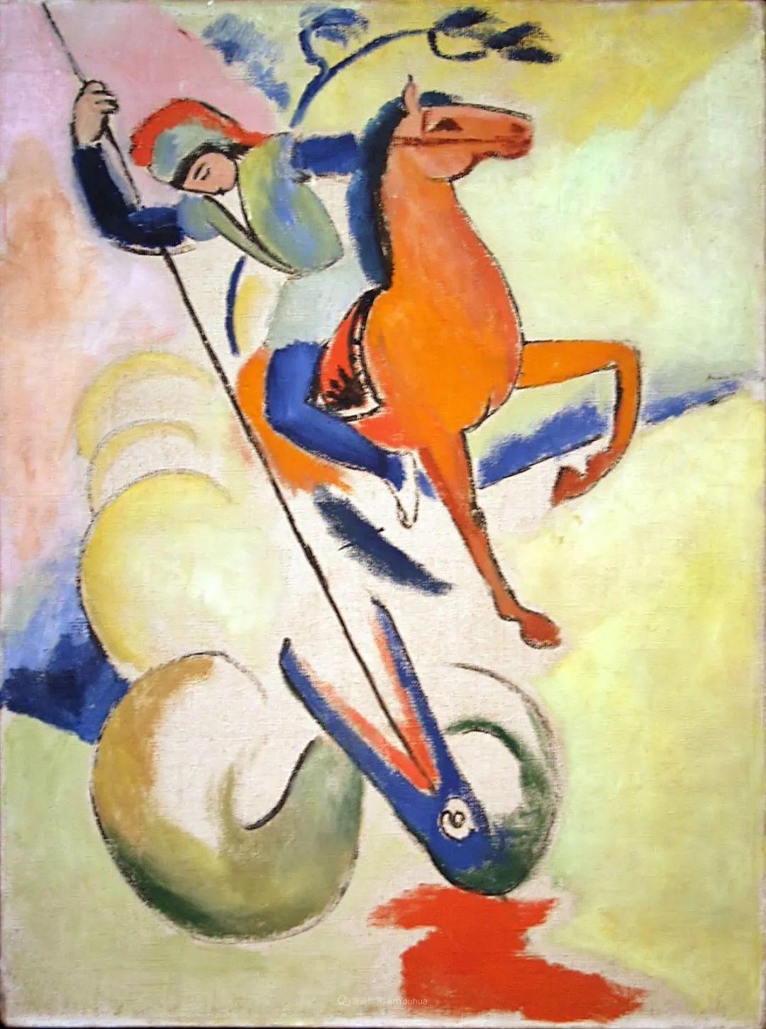 画面色彩的力量,德国表现主义画家奥古斯特·马克插图59