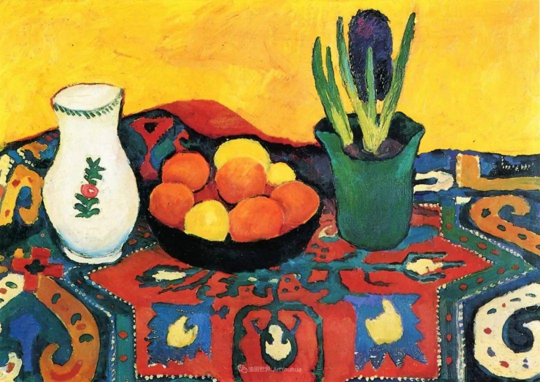 画面色彩的力量,德国表现主义画家奥古斯特·马克插图63