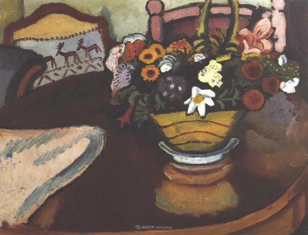 画面色彩的力量,德国表现主义画家奥古斯特·马克插图65