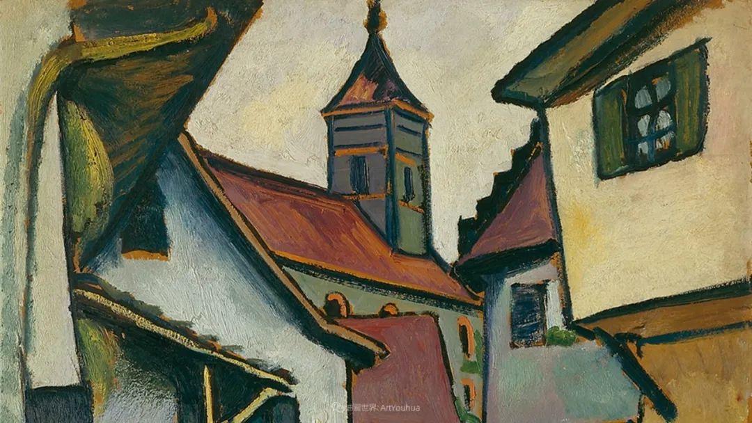 画面色彩的力量,德国表现主义画家奥古斯特·马克插图67