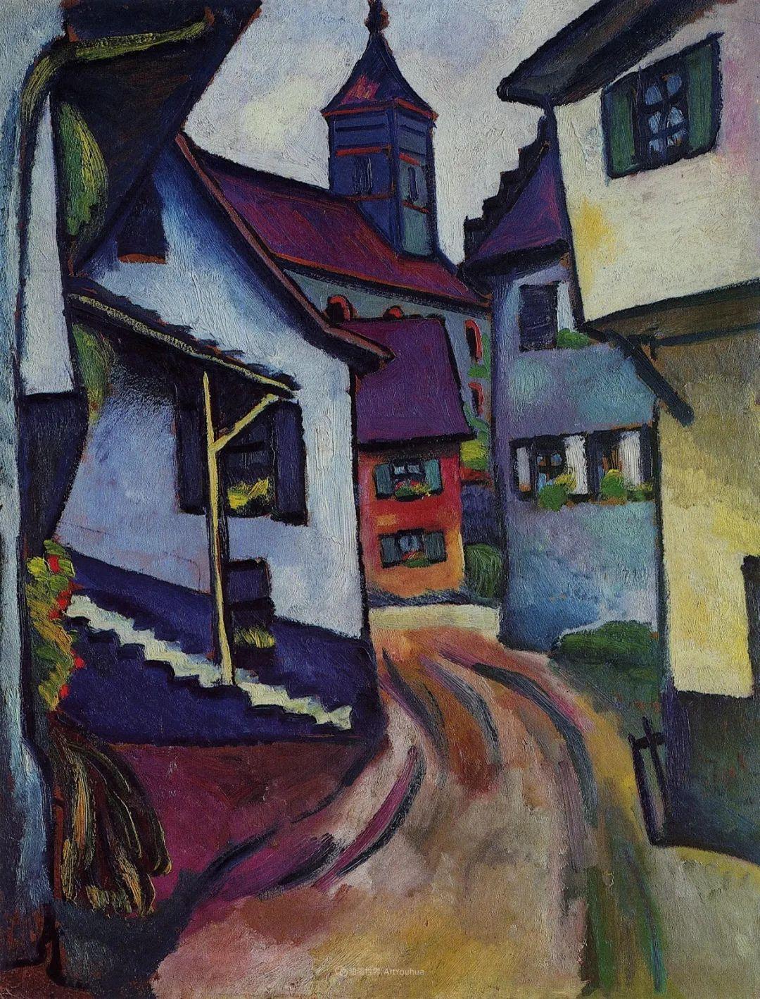 画面色彩的力量,德国表现主义画家奥古斯特·马克插图69