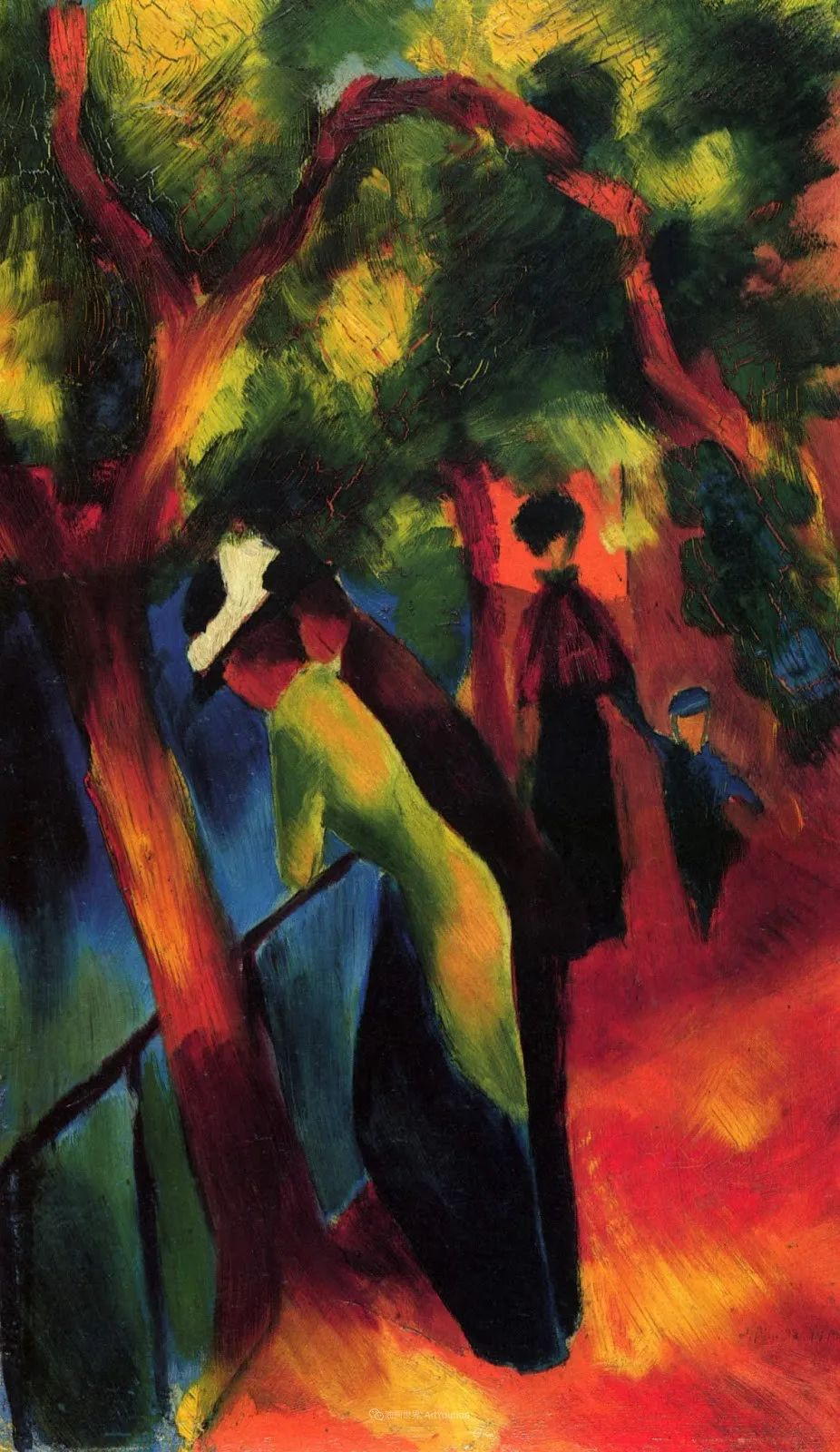 画面色彩的力量,德国表现主义画家奥古斯特·马克插图73