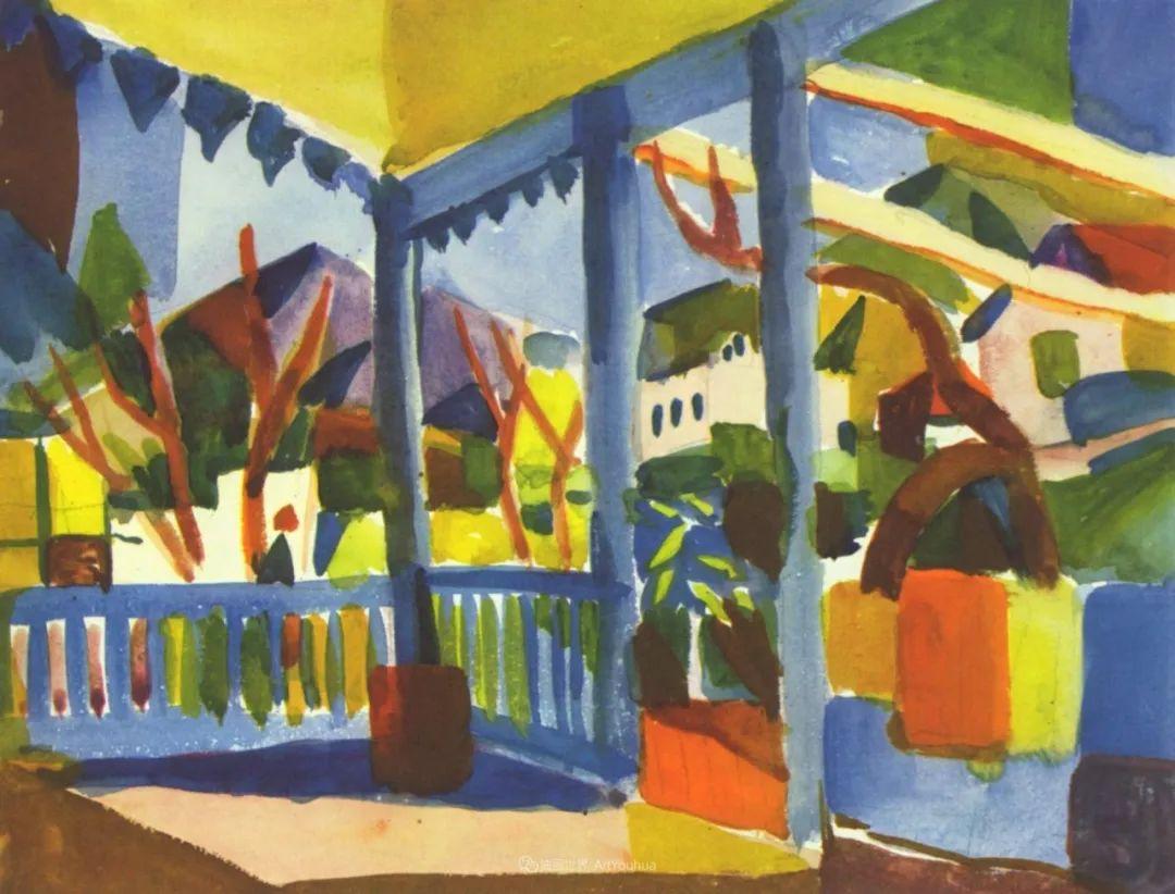 画面色彩的力量,德国表现主义画家奥古斯特·马克插图75