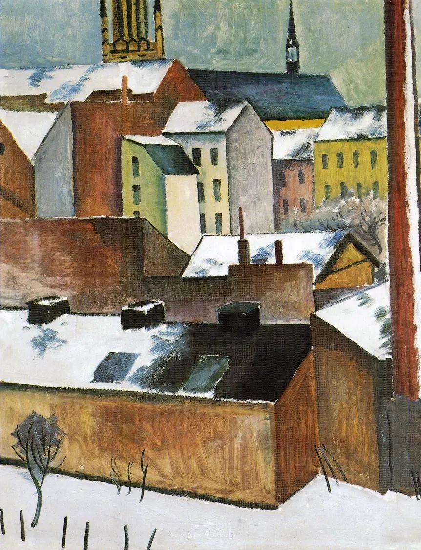 画面色彩的力量,德国表现主义画家奥古斯特·马克插图77