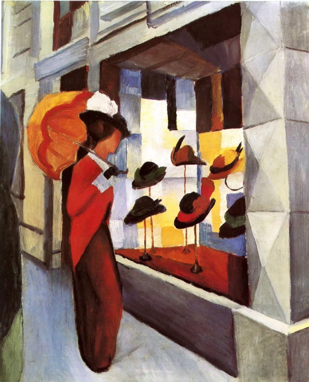 画面色彩的力量,德国表现主义画家奥古斯特·马克插图79