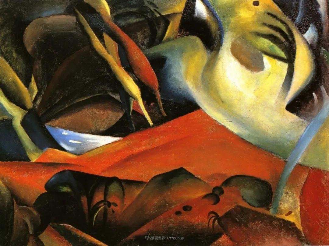 画面色彩的力量,德国表现主义画家奥古斯特·马克插图81