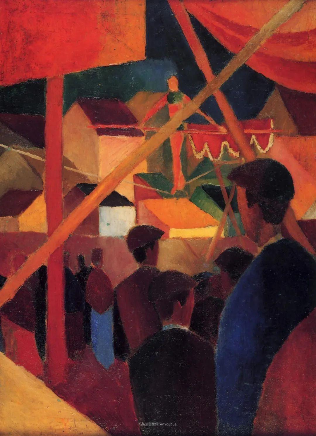 画面色彩的力量,德国表现主义画家奥古斯特·马克插图85