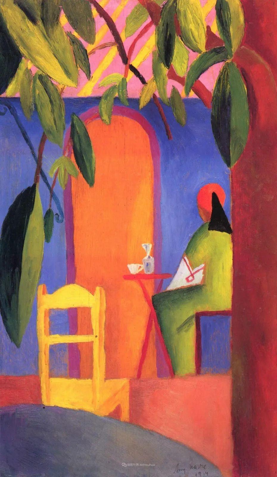 画面色彩的力量,德国表现主义画家奥古斯特·马克插图87