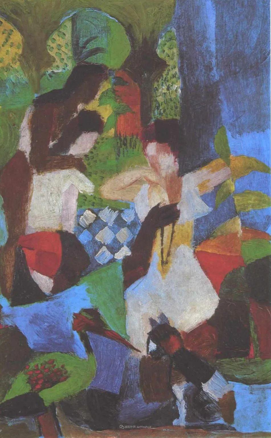 画面色彩的力量,德国表现主义画家奥古斯特·马克插图89