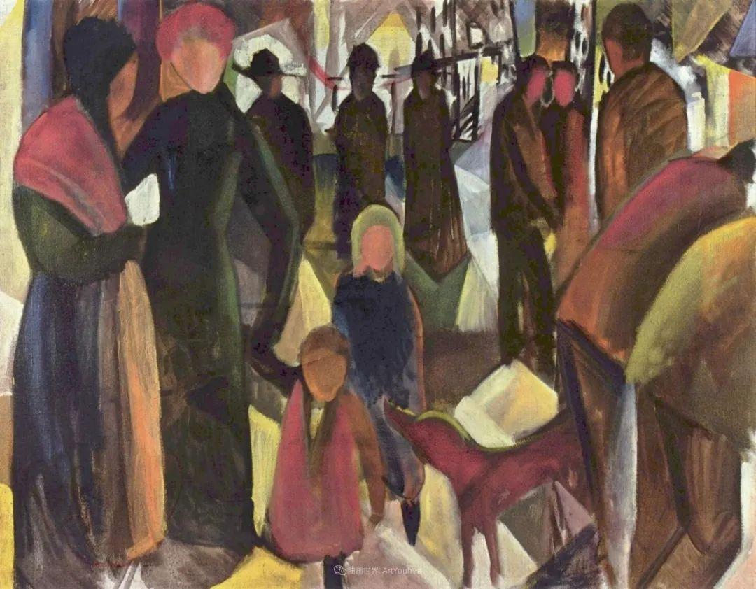 画面色彩的力量,德国表现主义画家奥古斯特·马克插图91