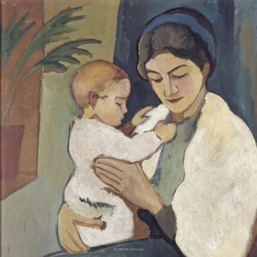 画面色彩的力量,德国表现主义画家奥古斯特·马克插图95