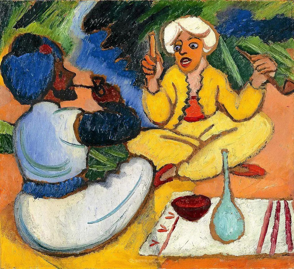 画面色彩的力量,德国表现主义画家奥古斯特·马克插图99