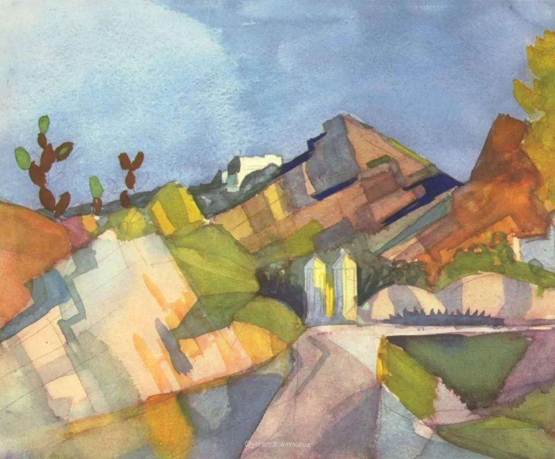 画面色彩的力量,德国表现主义画家奥古斯特·马克插图101