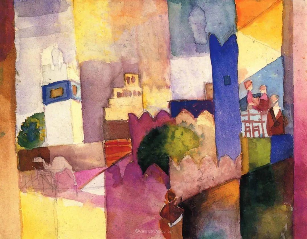 画面色彩的力量,德国表现主义画家奥古斯特·马克插图105
