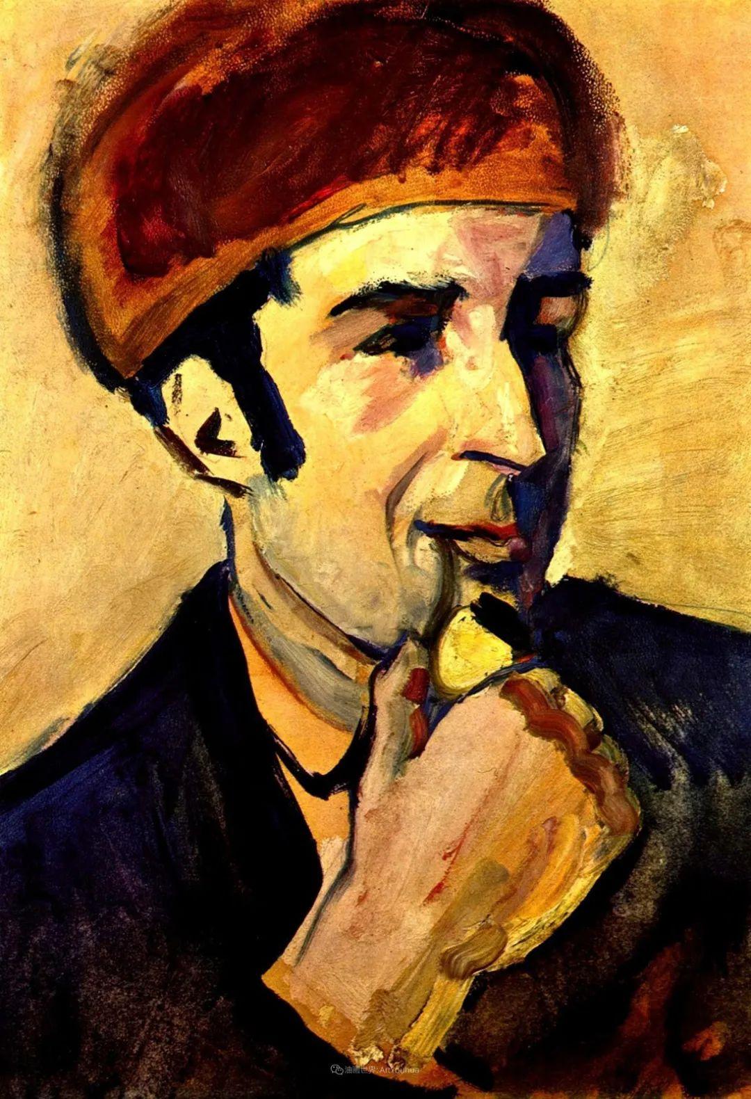 画面色彩的力量,德国表现主义画家奥古斯特·马克插图107