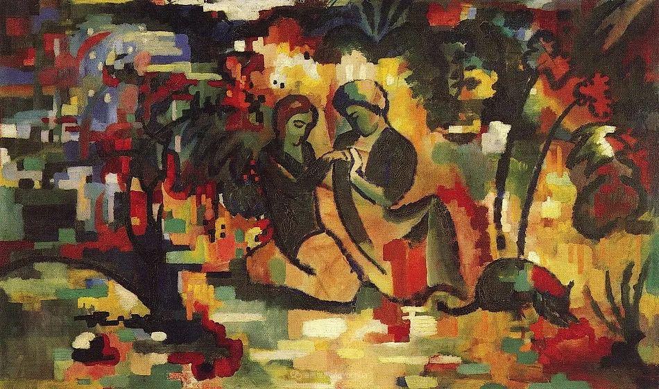 画面色彩的力量,德国表现主义画家奥古斯特·马克插图109