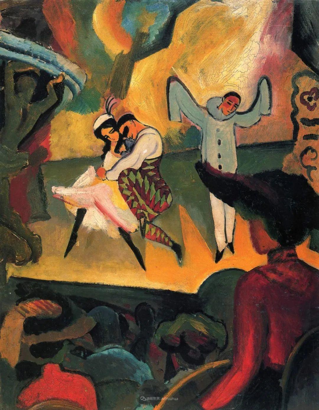 画面色彩的力量,德国表现主义画家奥古斯特·马克插图111