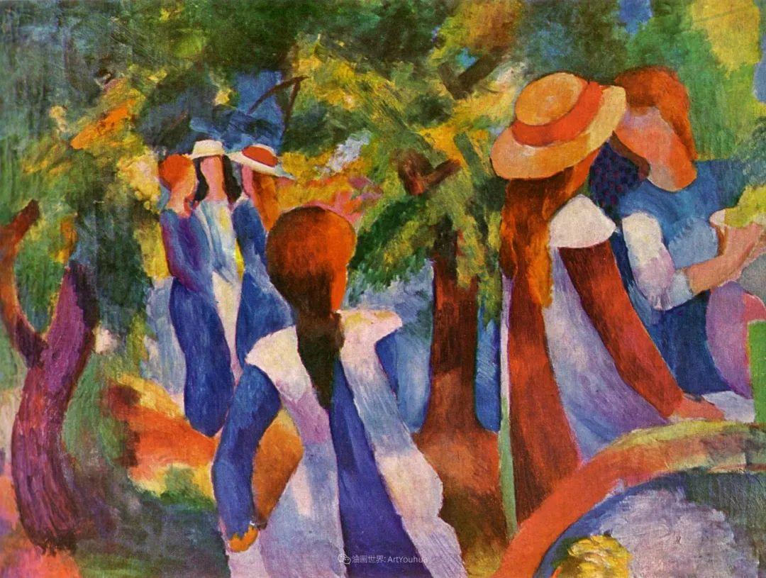 画面色彩的力量,德国表现主义画家奥古斯特·马克插图113